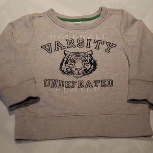 Boys Varsty Baseball Crew Neck Sweatshirt